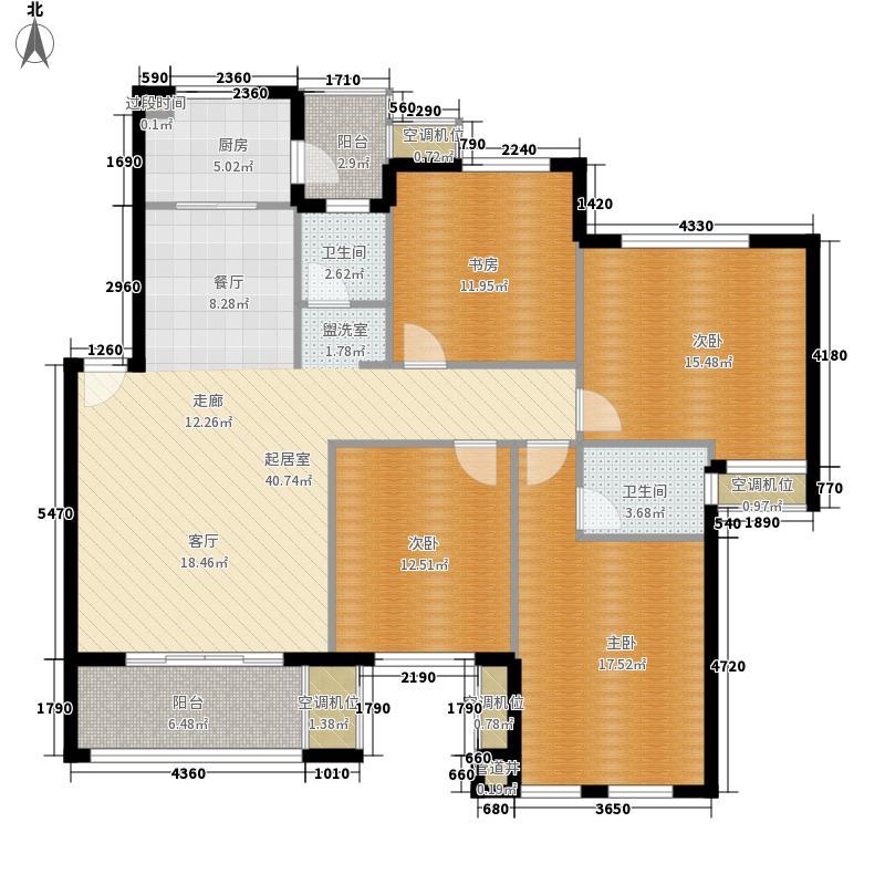朝辉首府138.00㎡三期9#楼Z户型4室2厅2卫1厨