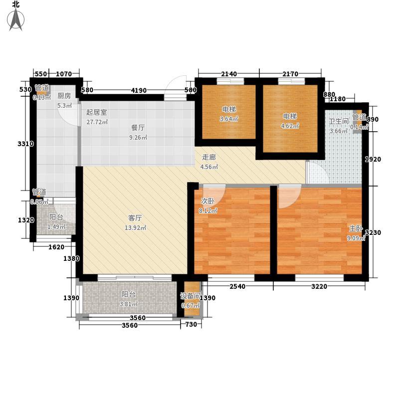 怡水公馆2.38㎡限价保障房2户型2室2厅1卫1厨