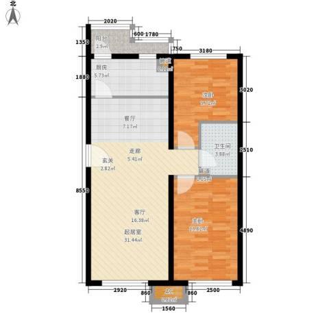 sala私人酒店2室0厅1卫1厨98.00㎡户型图