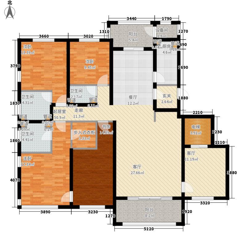 怡水公馆215.45㎡A2户型4室3厅3卫1厨