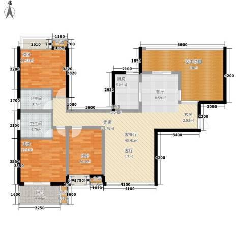 御龙湾3室1厅2卫1厨127.00㎡户型图