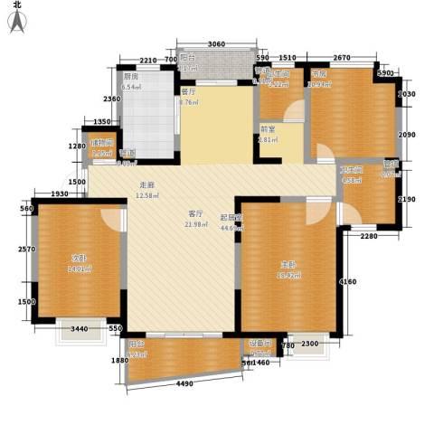 国际华城3室0厅2卫1厨131.00㎡户型图