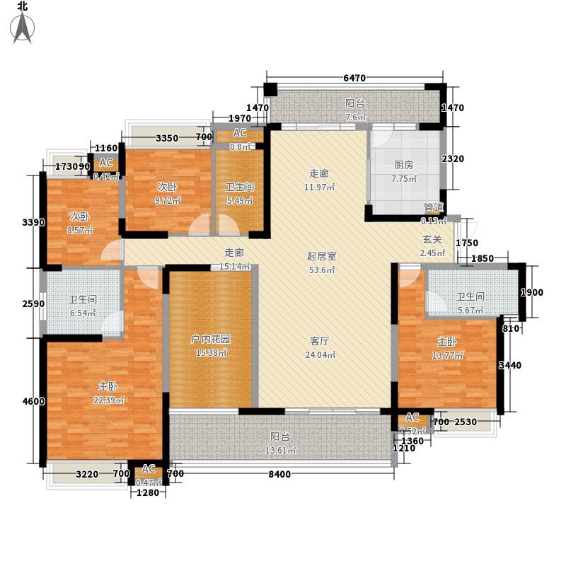 融科东南海二期215.00㎡中海D6户型4室2厅3卫1厨