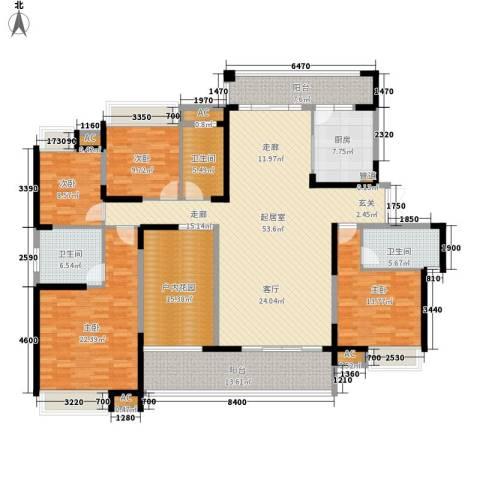 融科东南海二期4室0厅3卫1厨215.00㎡户型图
