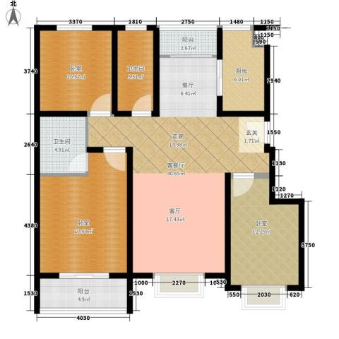 建大花园1厅2卫1厨120.00㎡户型图