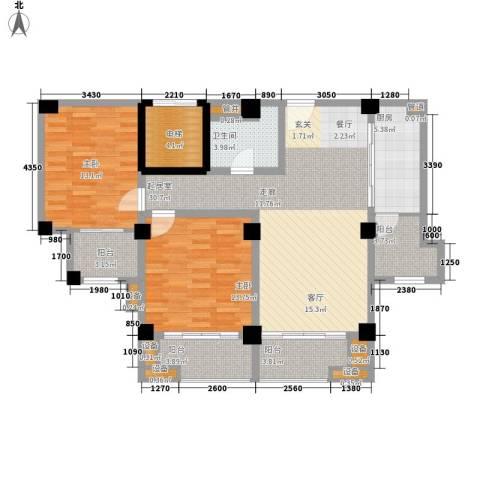 名门世家2室0厅1卫1厨100.00㎡户型图