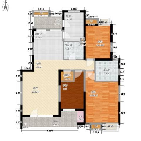品翠苑3室0厅2卫1厨124.76㎡户型图