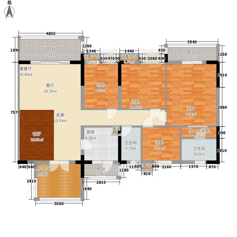 华夏新城129.02㎡华夏新城户型图14座05、15座01单元户型4室2厅2卫1厨户型4室2厅2卫1厨