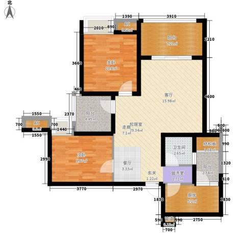 中海国际社区橙郡2室0厅1卫1厨109.00㎡户型图