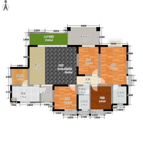 卓越美丽山水4室0厅2卫1厨133.00㎡户型图
