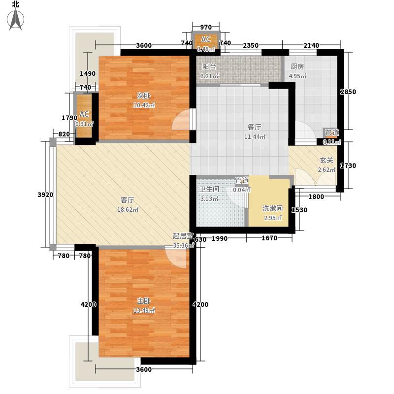 东恒时代二期TIMESA户型3室2厅1卫1厨