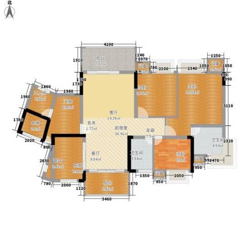 勒水名筑3室0厅2卫1厨128.00㎡户型图