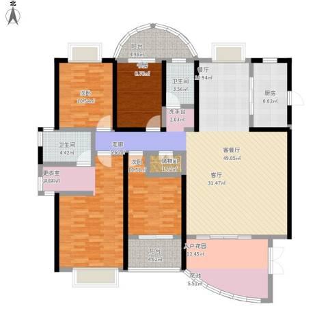 龙泉・华庭4室1厅2卫1厨200.00㎡户型图