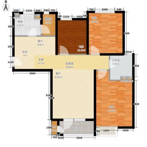 裕祥园3室0厅1卫1厨123.00㎡户型图