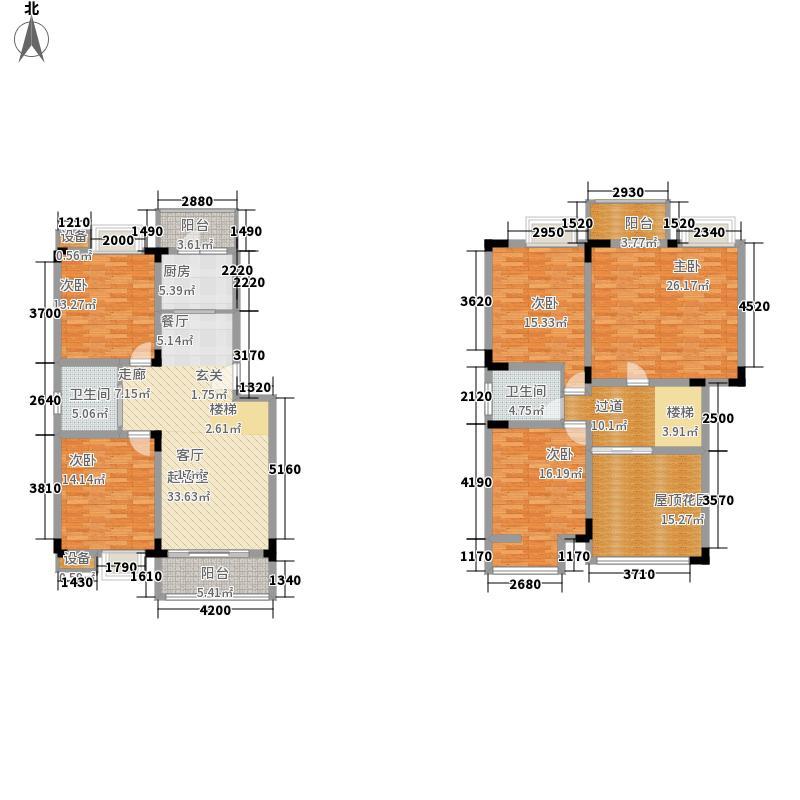 宏业康馨园179.43㎡1-7栋顶层跃层户型5室2厅2卫1厨