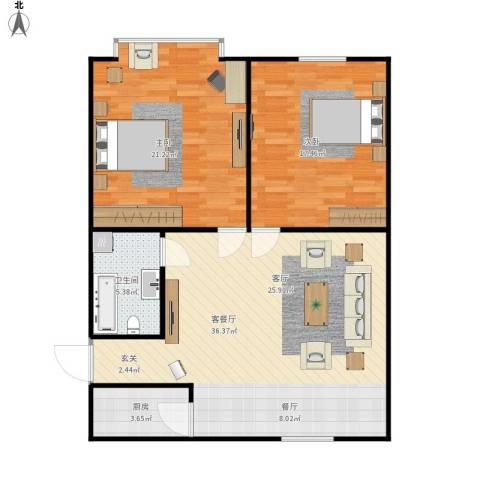 永康苑2室1厅1卫1厨111.00㎡户型图