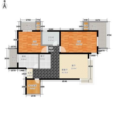 傲城尊邸2室1厅1卫1厨141.00㎡户型图