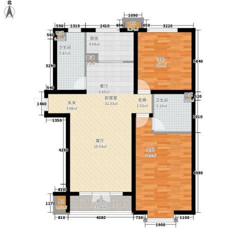 金光世家2室0厅2卫1厨120.00㎡户型图