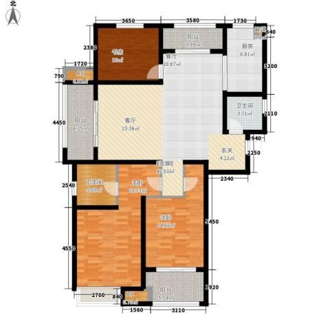 武进吾悦广场3室0厅2卫1厨137.00㎡户型图