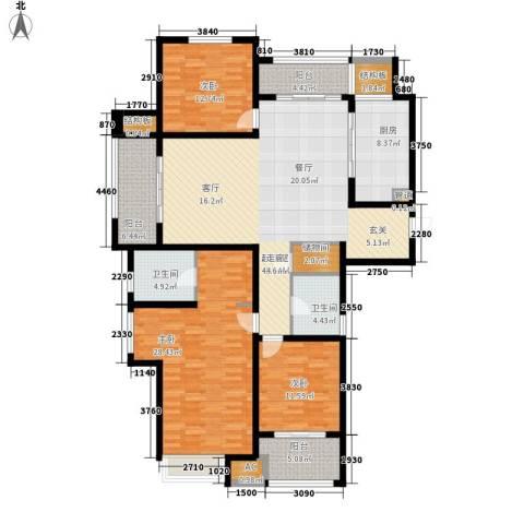 武进吾悦广场3室0厅2卫1厨159.00㎡户型图