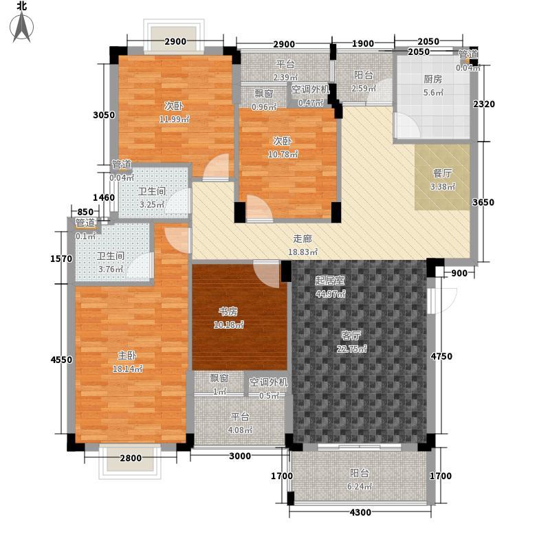世纪城国际公馆二期160.00㎡世纪城国际公馆二期4室户型4室
