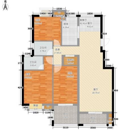 水云间3室1厅2卫1厨134.00㎡户型图