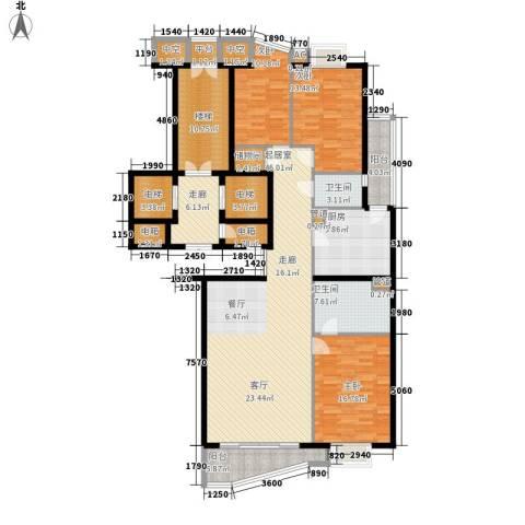 富卓花园3室0厅2卫1厨172.32㎡户型图