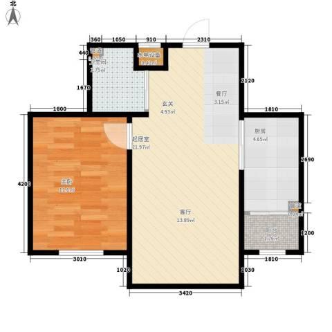 波尔的家1室0厅1卫1厨60.00㎡户型图