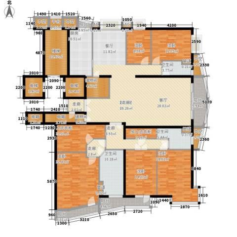 富卓花园5室0厅3卫1厨285.42㎡户型图