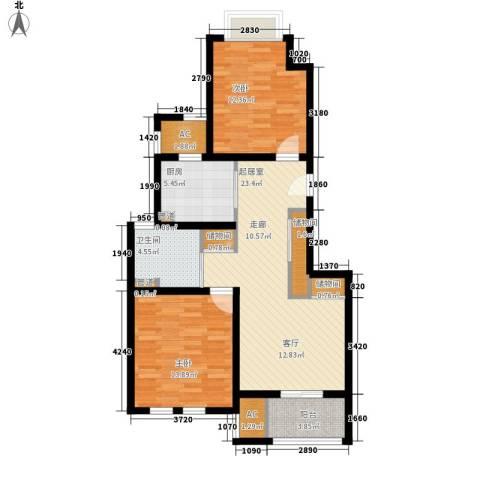 乾耀东港2室0厅1卫1厨84.00㎡户型图