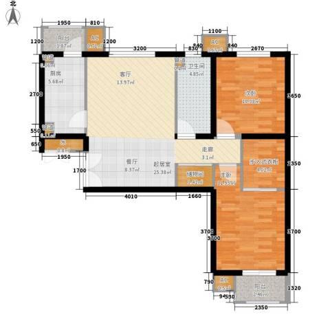润枫锦尚2室0厅1卫1厨92.00㎡户型图