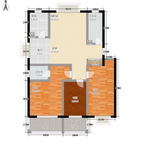 燕鲁花园3室0厅2卫1厨124.00㎡户型图