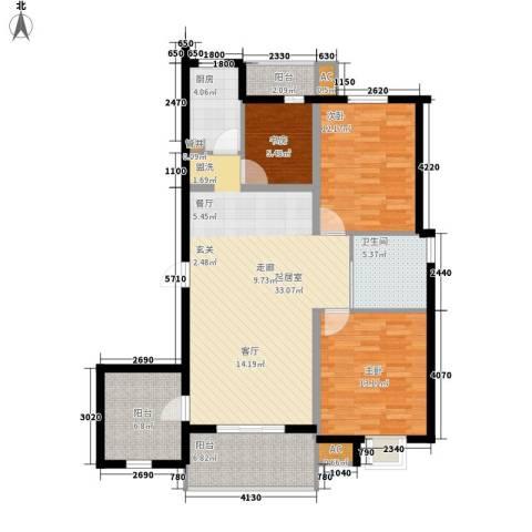 金龙花园二期3室0厅1卫1厨128.00㎡户型图