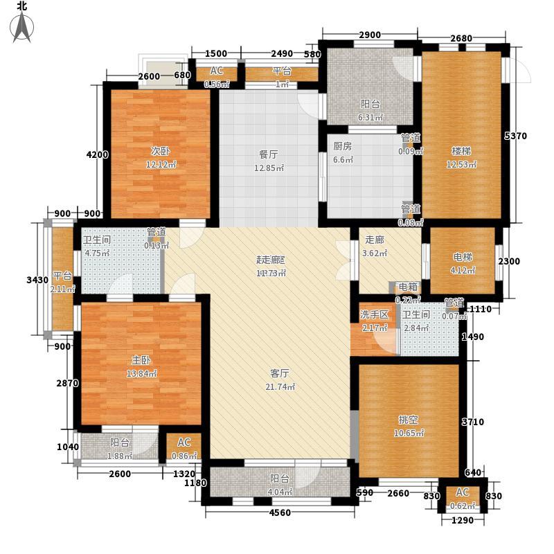 五矿・铭品A-W6户型2室2厅1卫1厨