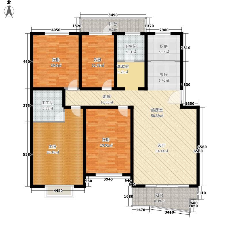 瑞祥花园如意世家163.64㎡6号楼A面积16364m户型