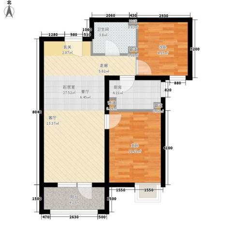 裕祥园2室0厅1卫1厨82.00㎡户型图