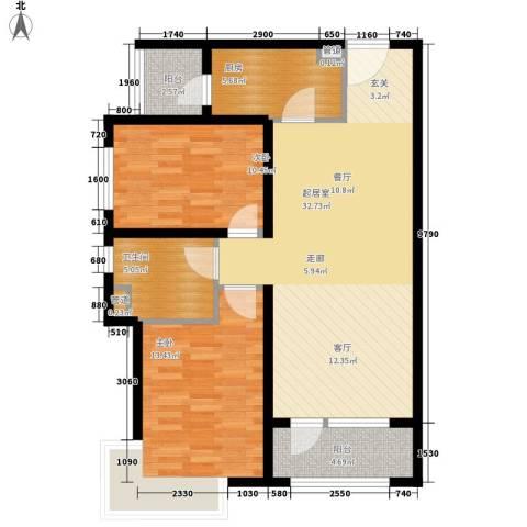 裕祥园2室0厅1卫1厨86.00㎡户型图