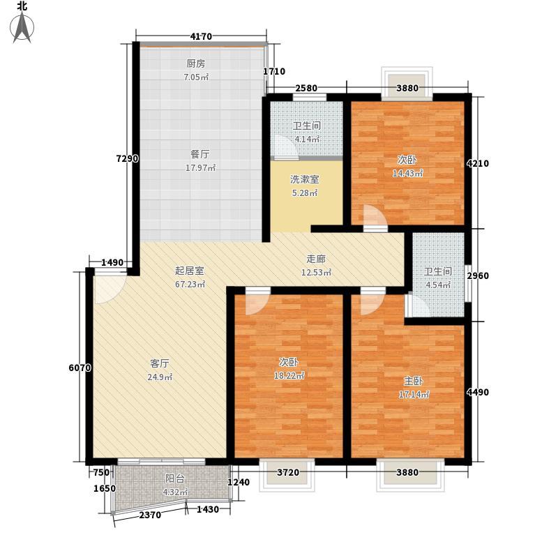 瑞祥花园如意世家141.60㎡5号楼A面积14160m户型