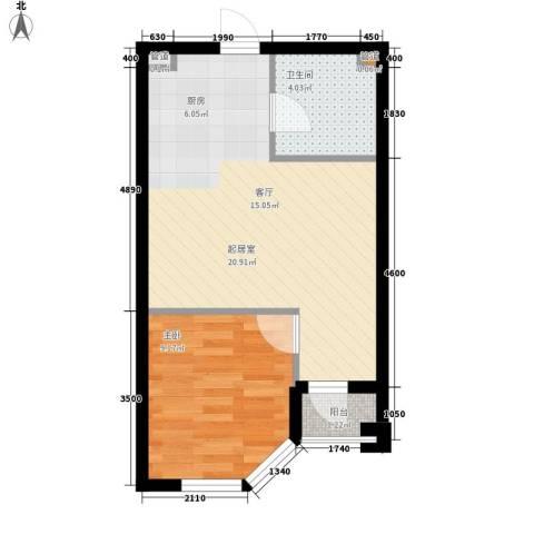 悦泰街里项目1室0厅1卫0厨36.00㎡户型图