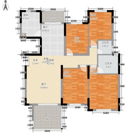 盛世华章4室0厅2卫1厨157.00㎡户型图