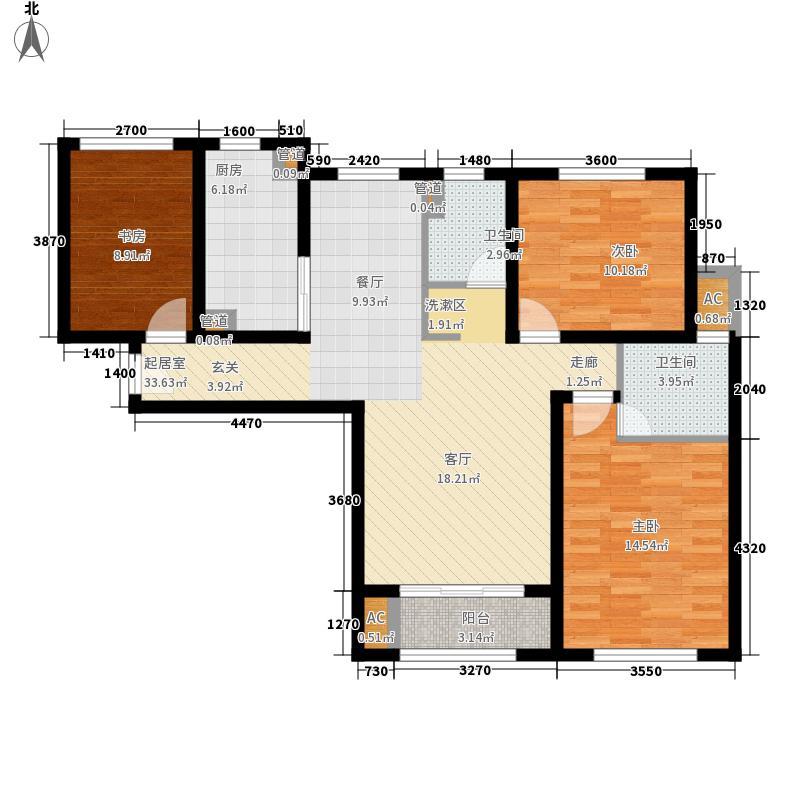 盛世天下36.39㎡363946号楼标准层A1户型