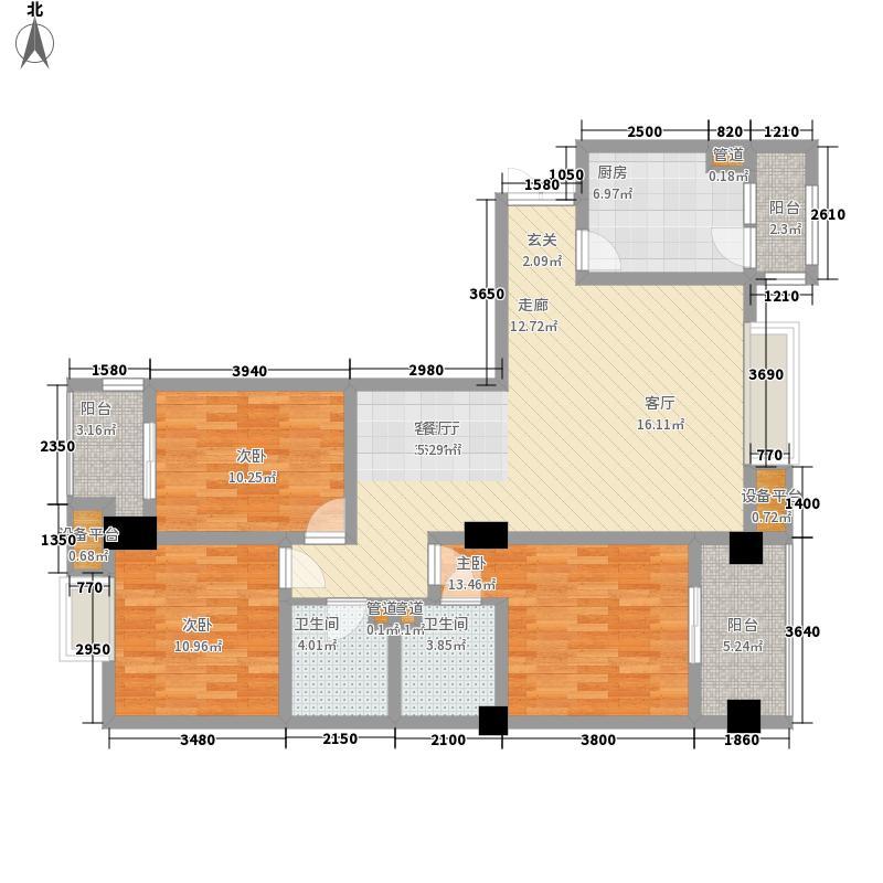东方锦都131.35㎡东方锦都户型图A3型3室2厅2卫1厨户型3室2厅2卫1厨