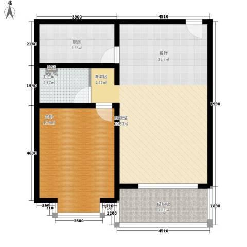 山景明珠花园1室0厅1卫1厨79.00㎡户型图