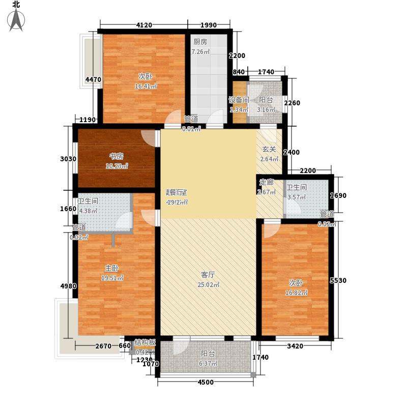 至道庄园157.00㎡一期1-3号楼标准层户型