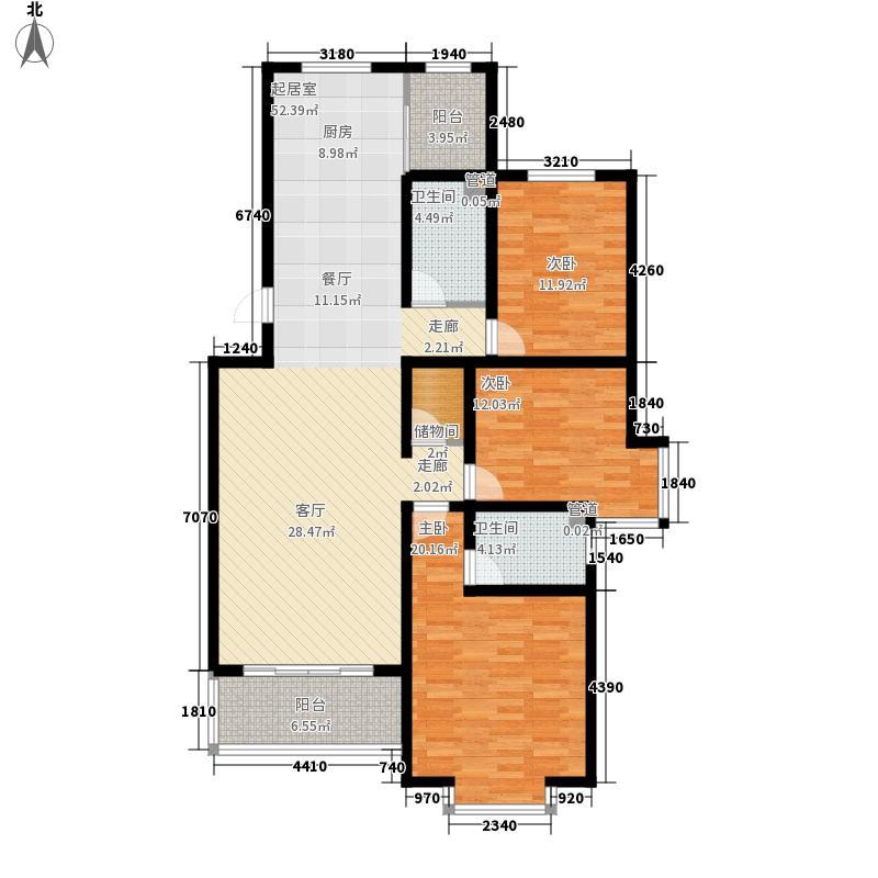 山景明珠花园134.00㎡山景明珠花园户型图14号楼户型23室户型3室