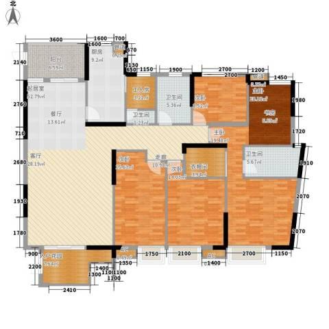 盛世华章4室0厅3卫1厨212.00㎡户型图