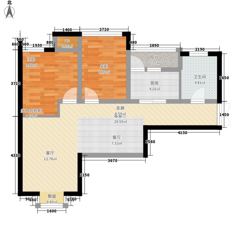 济南鲁能领秀城82.58㎡济南鲁能领秀城户型图A1户型(售完)2室2厅1卫户型2室2厅1卫