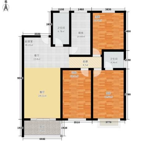 山景明珠花园3室0厅2卫1厨144.00㎡户型图