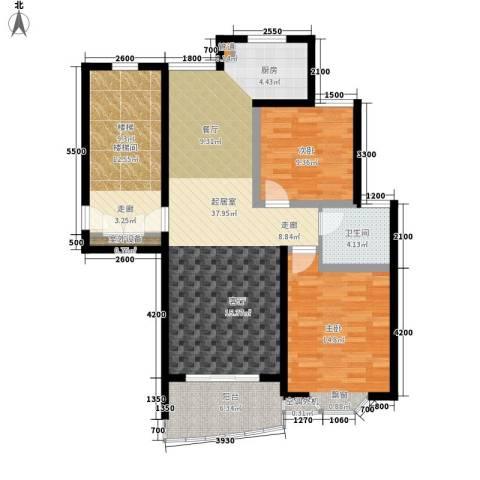 紫溪花园2室0厅1卫0厨123.00㎡户型图