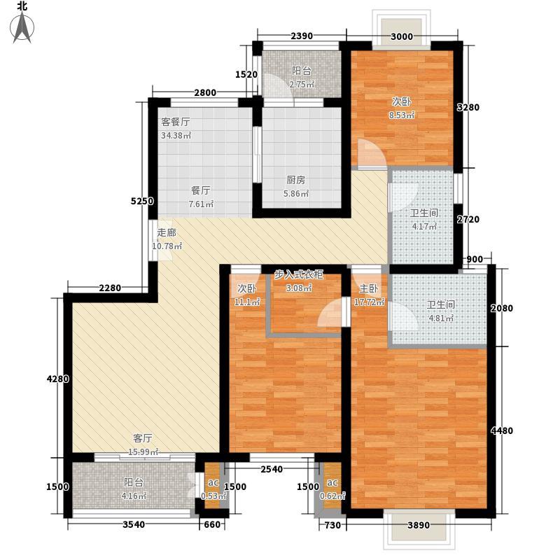 济南鲁能领秀城136.39㎡济南鲁能领秀城户型图E12/E16#A8(售完)3室2厅2卫户型3室2厅2卫
